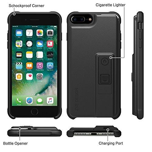 iphone 7 plus case zve multifunctional lighter case durable shockproof prote. Black Bedroom Furniture Sets. Home Design Ideas