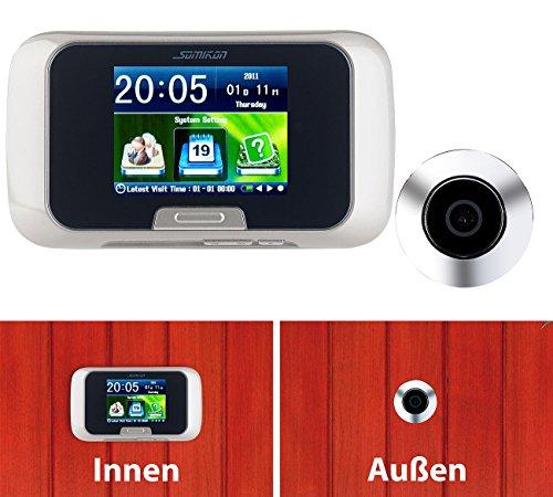 Somikon - Mirilla de puerta con cámara digital (con manual de fotos y grabación de vídeo: Amazon.es: Bricolaje y herramientas