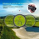 Télémètre Golf 800m, TACKLIFE Télescope Monoculaire Chasse 900yd MLR01, Grossissement 7x24mm, Précision de Distance 1m… 11