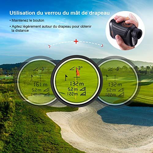 Télémètre Golf 800m, TACKLIFE Télescope Monoculaire Chasse 900yd MLR01, Grossissement 7x24mm, Précision de Distance 1m… 4