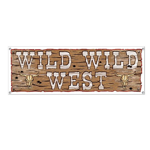Beistle 57676 Wild Wild West Sign Banner, 5-Feet by 21-Inch for $<!--$3.96-->