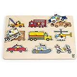 Hape Emergency Vehicles Toddler Wooden Peg Puzzle