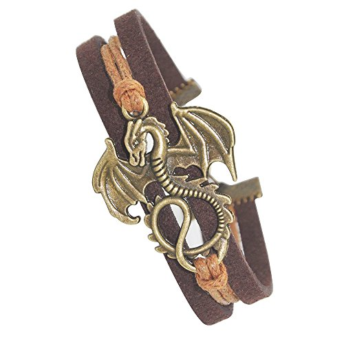 Ac Union Dragon Daenerys Targaryen - Game of Thrones Charm for Friendship Gift - Fashion Personalized Leather Bracelet