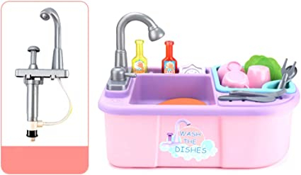Amazon Com Nuxn Kitchen Sink Play Set For Kids With Running Water Kitchen Sink Toys Pretend Play Wash Up Kitchen Toys Dishwasher Toys Set With Faucet And Drain For Kids And Toddlers Toys