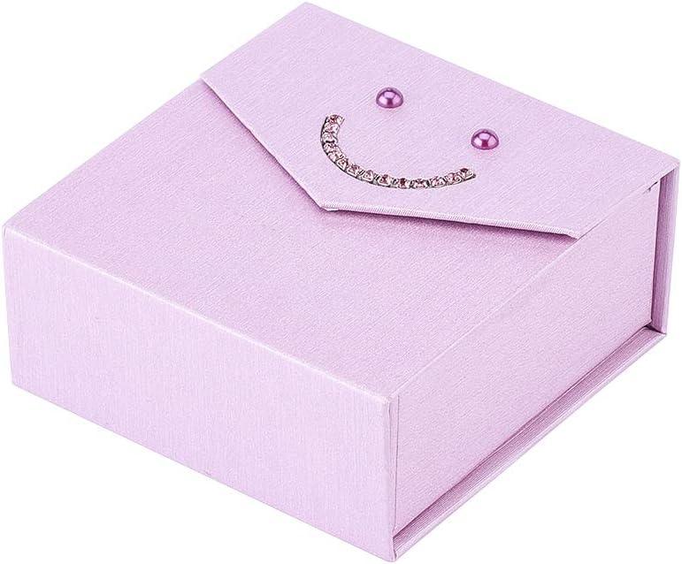 NBEADS - Caja de Regalo de cartón Rosa Perla con Cierre magnético, 8,3 x 8,3 x 3,6 cm: Amazon.es: Hogar