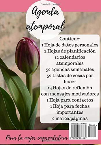 Agenda para la mujer emprendedora: Blanco y negro (Spanish ...