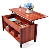 Lift Up Coffee Table LAZYMOON Lift Top Coffee Table Laptop Desk Storage Compartment Solid Wood Home Furniture