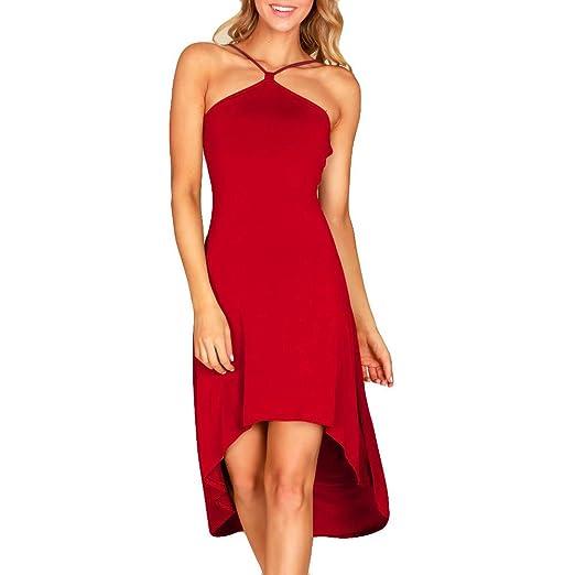 Vestido de Moda Honda Vestido de Noche Irregular para Mujer ...