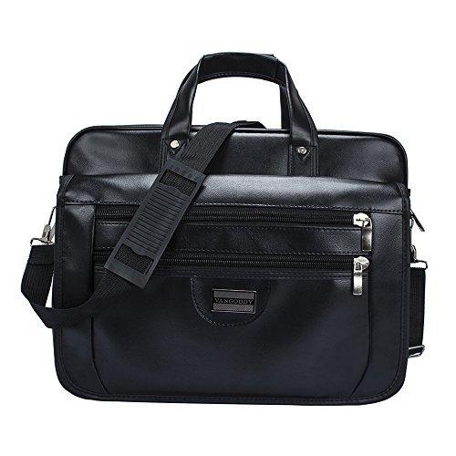 819eb22a1f25 Black VanGoddy Hybrid Premium Briefcase Messenger Backpack Shoulder ...