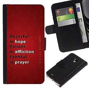 All Phone Most Case / Oferta Especial Cáscara Funda de cuero Monedero Cubierta de proteccion Caso / Wallet Case for Samsung Galaxy S4 Mini i9190 // BIBLE Hope Affliction Prayer