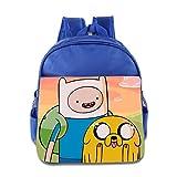 Toddler Kids Adventure Time School Backpack Cartoon Children School Bag RoyalBlue