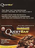 quest bar chocolate - Quest Bar Chocolate Brownie -2.12 Oz. BARS , Box of 12 - 2 Pack