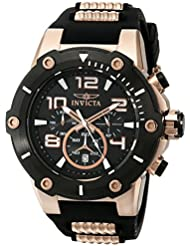 Invicta Mens 17201 Speedway Analog  Japanese Quartz Black & 18k Rose Gold Ion-Plated Stainless Steel Watch