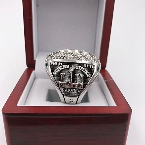 GF-sports store New 2017-2018 Philadelphia Eagles Replica Championship Ring Gift Fashion Gorgeous Collectible Jewelry (box, 11) by GF-sports store (Image #2)