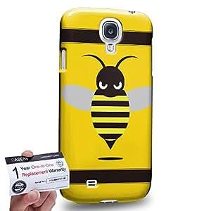 Case88 [Samsung Galaxy S4] 3D impresa Carcasa/Funda dura para & Tarjeta de garantía - Art Fashion Little Bumblebee B
