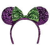 disney park halloween purple minnie mouse headband ears