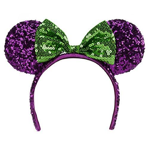 disney park halloween purple minnie mouse headband ears for $<!--$49.95-->