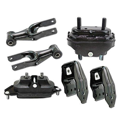 (ONNURI For Chevrolet Impala/Monte Carlo 3.5L 2006-2011 Motor & Trans Mount Set 6PC : A5263 A5263 A2906 A5372 A5372 A2818 - K1035)