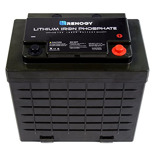 Renogy Lithium-Iron Phosphate Battery 12 Volt 100Ah for RV, Solar, Marine, and Off-Grid Applications