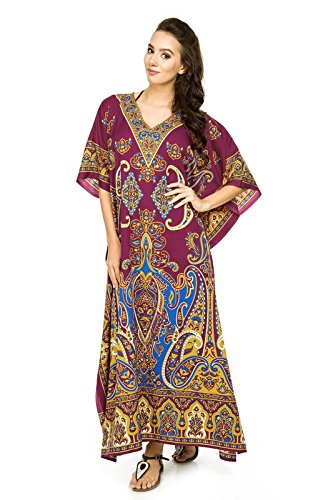 Donna Nuovo Tunica Unica Rosso Maxi Caftano Glam Taglia Abito Kaftan Kimono Looking Da Oversize tqpTpw
