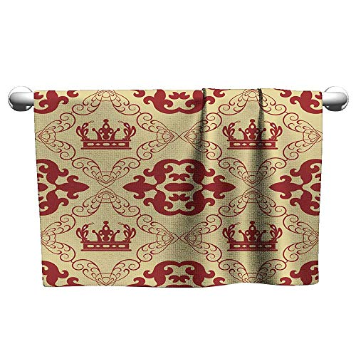 - Tankcsard Floral Hand Towels Damask Decorative Wallpaper for Walls 4,Towel for Dogs