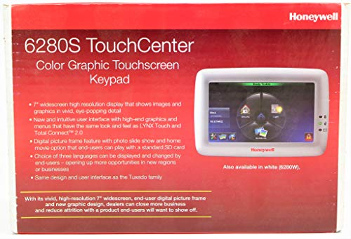 Honeywell Ademco 6280S Color Touch-Screen Keypad w/ Voice, Silver Color Touch Screen Keypad