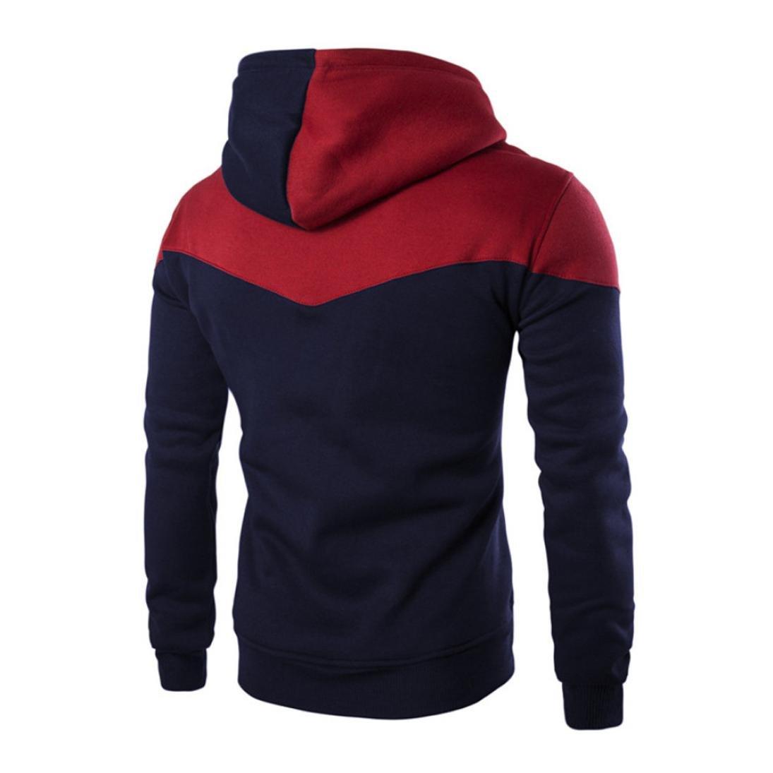 Btruely Herren Pullover Hombres Invierno Sudadera con Capucha Delgada Sudadera Hombres Caliente Chaqueta de Abrigo Blusa Outwear Sweater Top tee