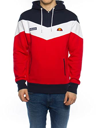6365f8b7e3 ellesse Men's Caserta Pullover Hoodie, Red, X-Small: Amazon.co.uk ...