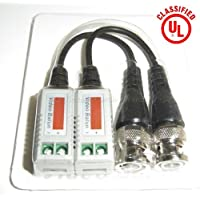 6 PAIRS (12 Pcs) Mini CCTV BNC Video Balun with Lead Coax Cable