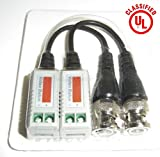6 PAIRS (12 Pcs) Mini CCTV BNC Video Balun w/pigtail
