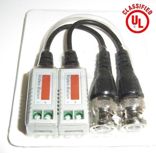 6 PAIRS (12 Pcs) Mini CCTV BNC Video Balun with Lead Coax (Coax Lead)