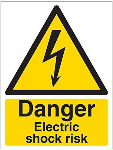 autocollant noir//jaune 150/mm x 200/mm Portrait vsafety Signes 68019/an-sDanger Choc /électrique Risque Avertisseur /électrique signe