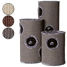 Dibea KT00930 Tonelada Torre Rascador para Gatos, Sisal, 50 cm, Altura, Gris