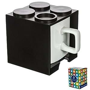 Le Bleu Bean Clearance Espresso Cups, Gift Boxed, Black