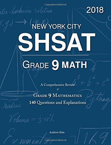 Download SHSAT Grade 9 Math: 9th Grade Mathematics; 140 Questions and Explanations PDF
