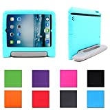 Aken Multi Function Child / Shock Proof Kids Cover Case with Stand / Handle for Apple iPad 2nd / 3rd / 4th Generation Tablet (iPad 2/3/4) (Teal/Gray)