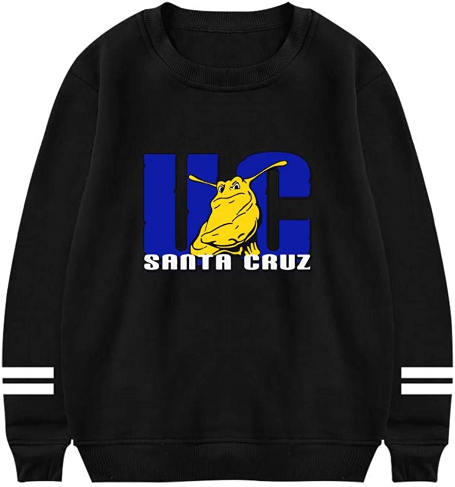 KssKsa Mens UC Santa Cruz Banana Slugs Crewneck Sweatshirt Athletic Sweater Cotton Pullover