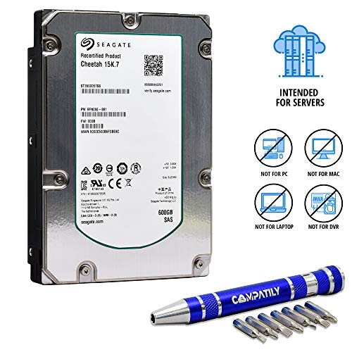 (Seagate 600 GB 15k SAS 6Gb/s 16MB 3.5in | ST3600057SS | Cheetah 15K.7 HDD and COMPATILY Aluminum Hard Drive Carrier Screw Kit - Bundle (Renewed) w/ 2 Year Warranty)