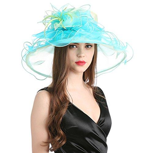 4e5a1c02e141d Women s Organza Church Derby Fascinator Cap Kentucky Tea Party Wedding Hat