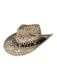 Western Cowboy hat Straw Hollowed Out Straw hat Casual Punching Sun hat Summer Hats Sun hat Sun Protection