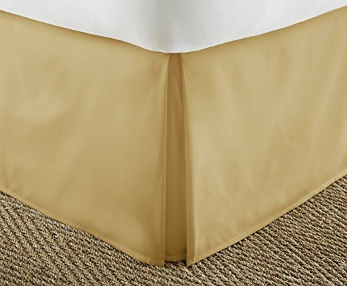 Bedskirt Dust Ruffle (ienjoy Home Premium Pleated Dust Ruffle Bed Skirt, Queen, Gold)