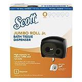 """Scott Jumbo Roll Jr. Bathroom Tissue Dispenser for Small Business (49145), 16"""" x 13.88"""" x 5.75"""", Smoke, 1 per Case"""