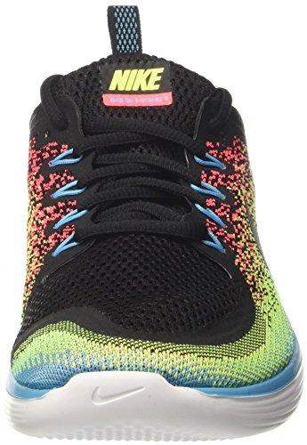 Nike Herren Free Run Distance 2 Laufschuhe Mehrfarbig (Volt/noir/rougecocktail/bleuchlorine)