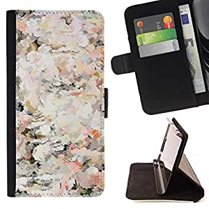 For Sony Xperia Z5 (5.2 Inch) / Xperia Z5 Dual (Not for Z5 Premium 5.5 Inch) Case , Floral Vintage Vignette Wallpaper Flores- la tarjeta de Crédito Slots PU Funda de cuero Monedero caso cubierta de piel