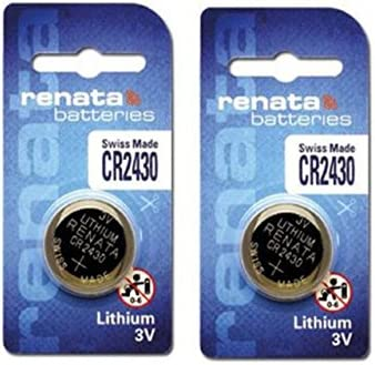 Renata CR2430 Lithium Button Coin Cell 3V Battery - Set of 2 Pieces General Purpose Batteries & Battery Chargers at amazon