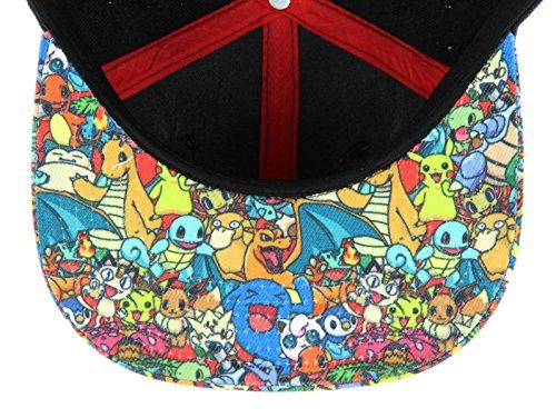 Pokemon- Pokeball Sublimated Snapback Hat Size ONE SIZE