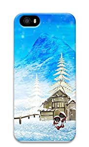 iPhone 5 5S Case Happy Winter Christmas 3D Custom iPhone 5 5S Case Cover