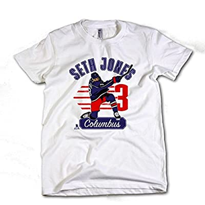 Seth Jones NHLPA Columbus Youth T-Shirt Seth Jones Arch 14/16 White