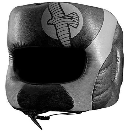Hayabusa Fightwear Tokushu Regenesis Boxing Headgear - Black/Grey - One Size