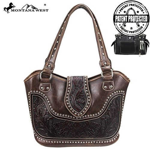 montana-west-concealed-gun-carry-purse-tooled-leather-handbag-western-style-purse-coffee